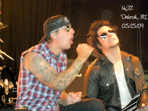 M Shadows and Synyster Gates Avenged Sevenfold performM Shadows And Synyster Gates