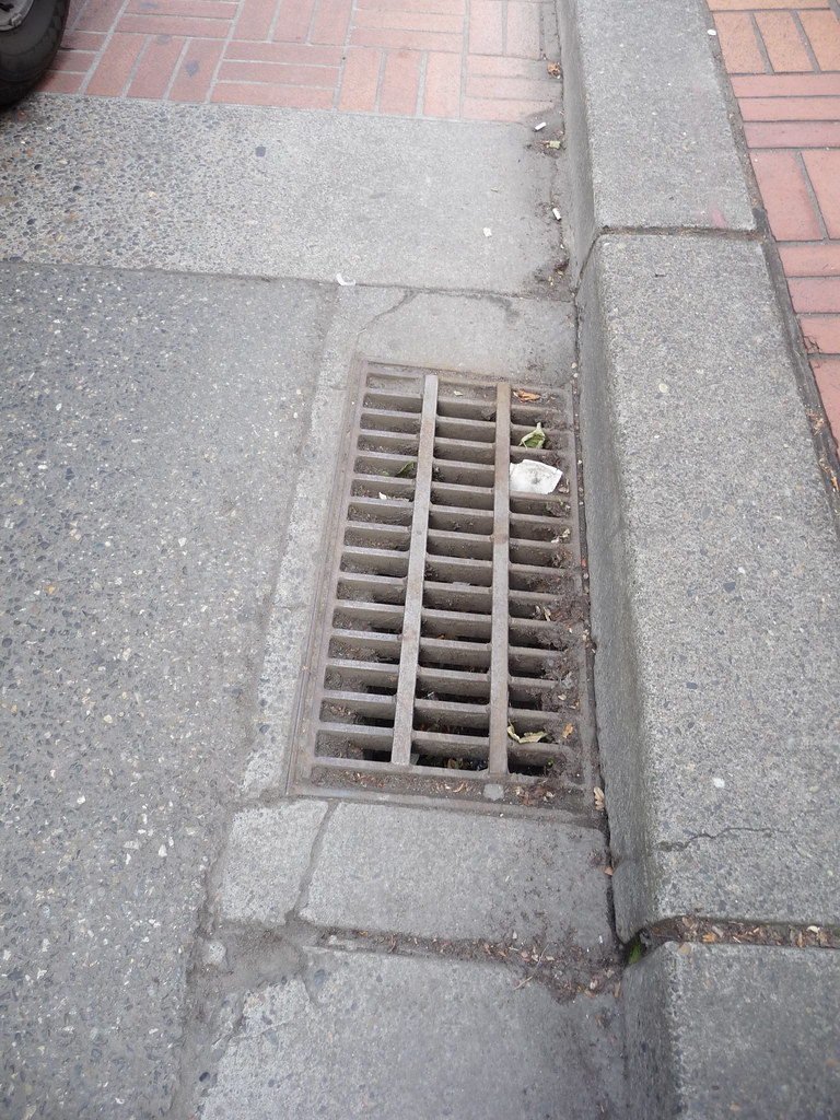 Strapped Lateral Storm Drain Grate Even Without The