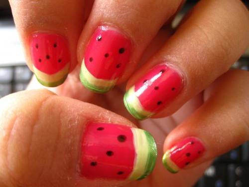 Nail Art Design Watermelon Delicious Watermelon Maria Katrina