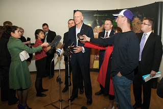 Peter Garrett answers media questions about the Masterpieces from Paris exhibition announcement | by National Gallery of Australia, Canberra