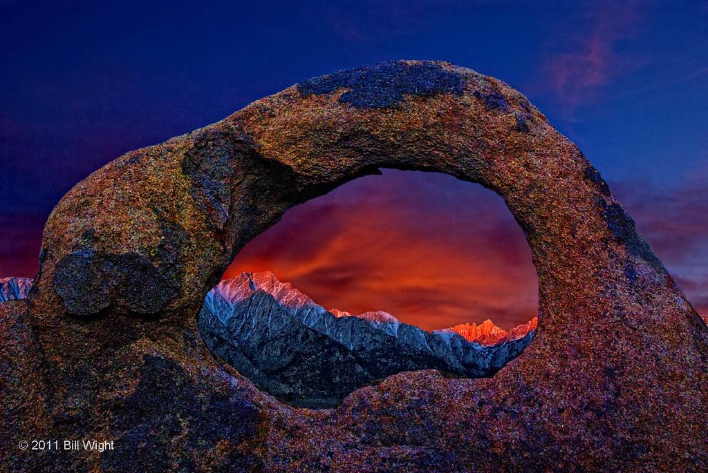 whitney portal arch sunrise alabama hills