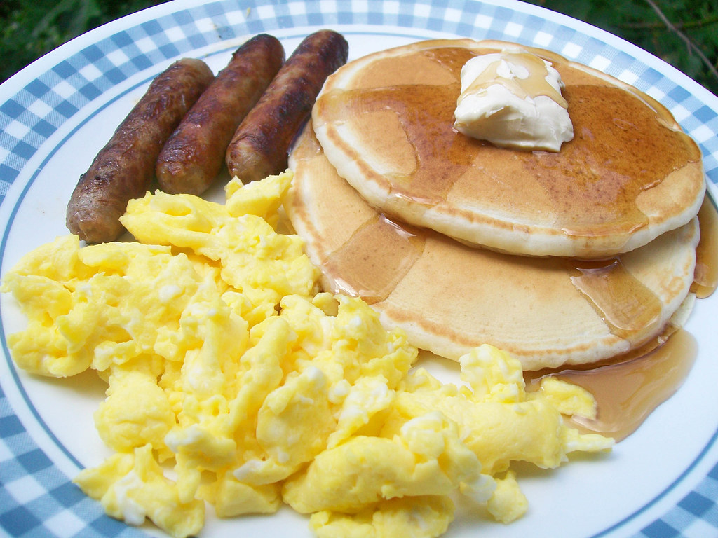 Pancakes, Sausage, & Eggs | A perfect breakfast ...