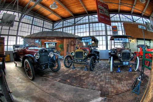 Classic Car Display at the NC Transportation Museum in HDR thru the Fisheye | by Carolinadoug