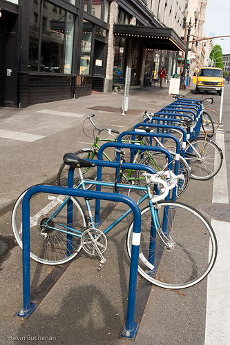 Bike Corral On Street Bicycle Parking Quot Corral Style