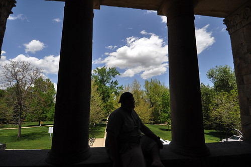 Silhouetted student | by cuboulder