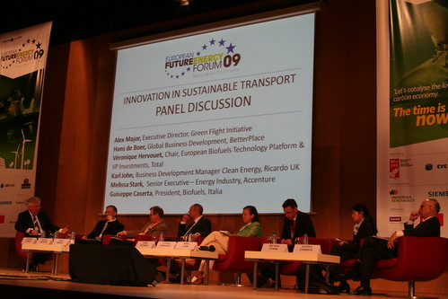 Innovation in Sustainable Transport panel at European Future Energy Forum | by Tom Raftery