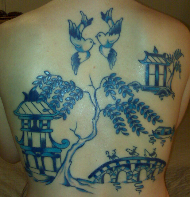 Tattoo Picture At Checkoutmyink Com: Blue Willow China Pattern Tattoo
