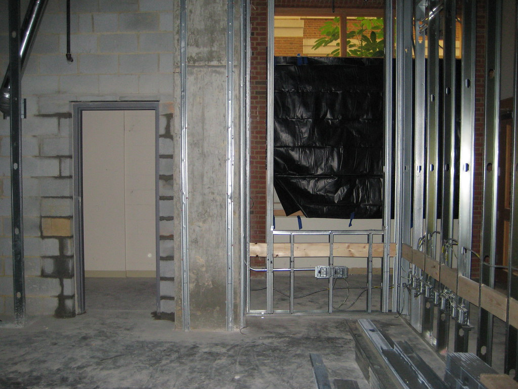 New Door Cut In Concrete Block Wall Z Smith Reynolds