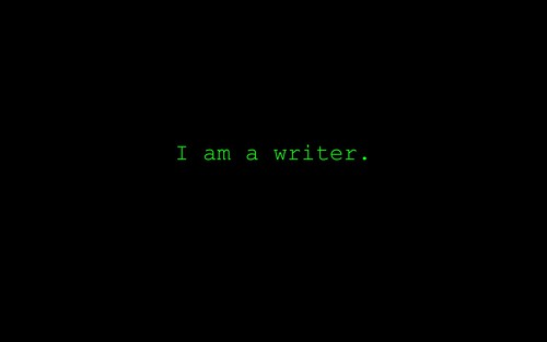 I am a writer. | by DavidTurnbull