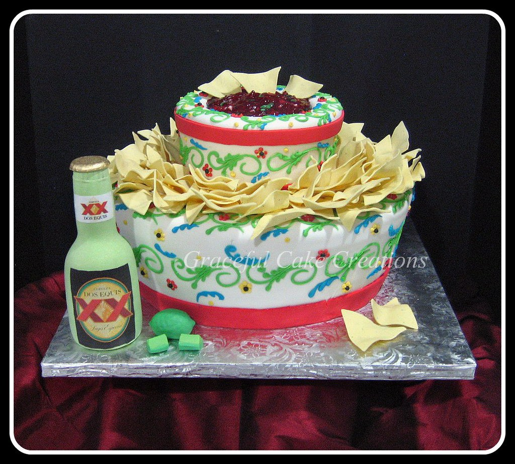 Mexican Fiesta Birthday Party Cake | This was for a mans ...