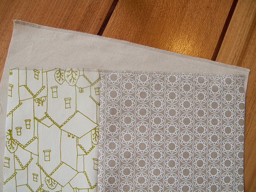 making cushions - front and back, zipper edge overlocked | by birds & trees