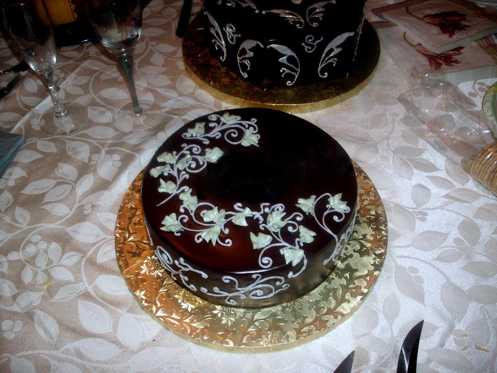 Chocolate Cake Decorated With Chocolates