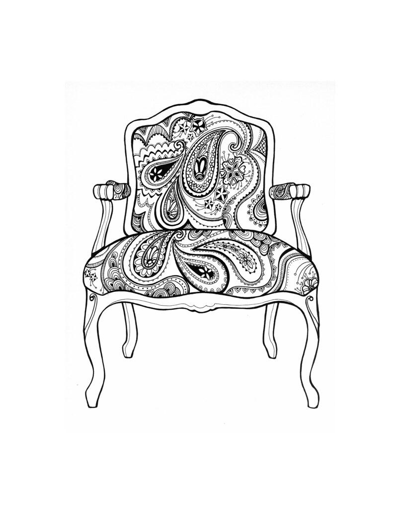 ... Stephaniecorfee Paisley Chair Coloring Page | By Stephaniecorfee