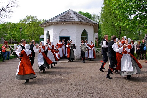 Welsh Folk Dancing, St Fagans Museum, near Cardiff