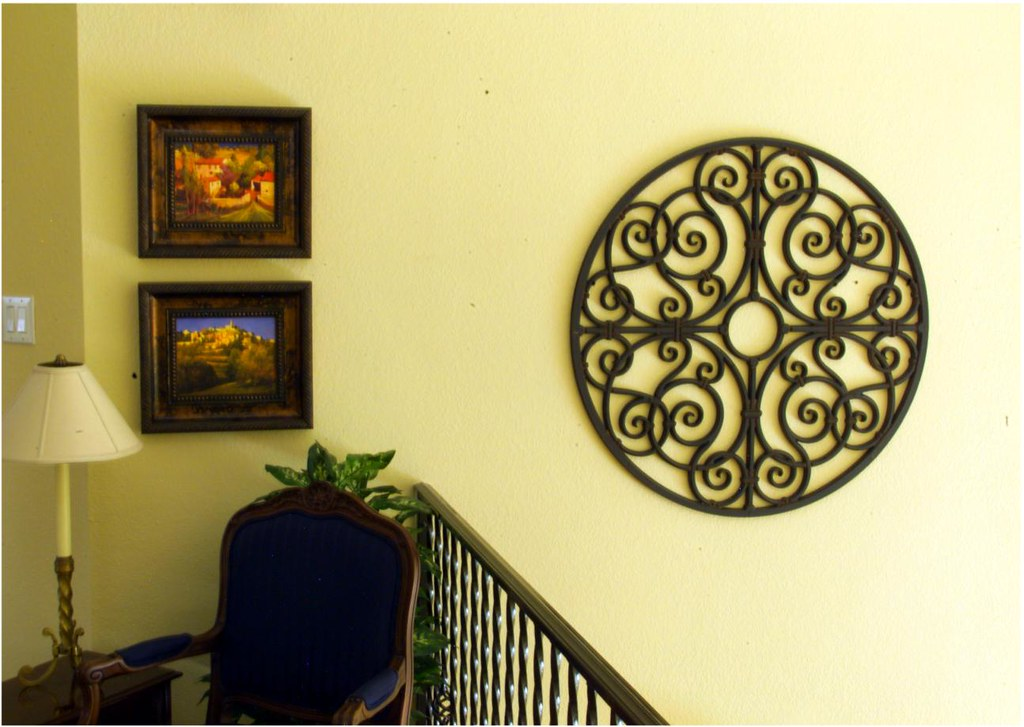 Faux wrought iron wall decor this looks like it is for Decozilla wall art
