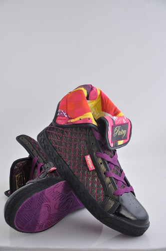 Black And Purple Pastry Shoes