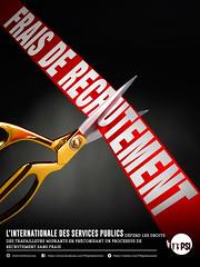 Pour la gratuité du recrutement - Sciseaux (18x24)