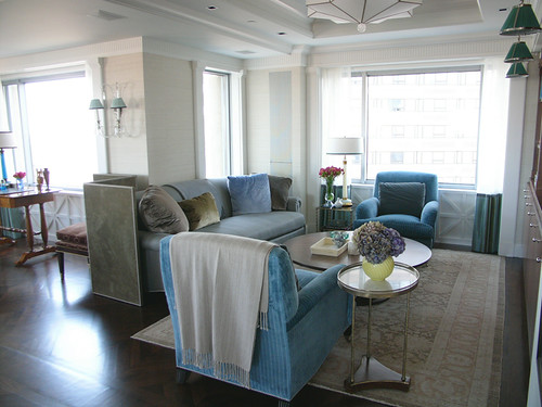 Frank Roop Turquoise Gray Living Room Blogged About