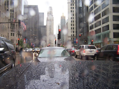 Rainy Chicago downtown | by kittykill