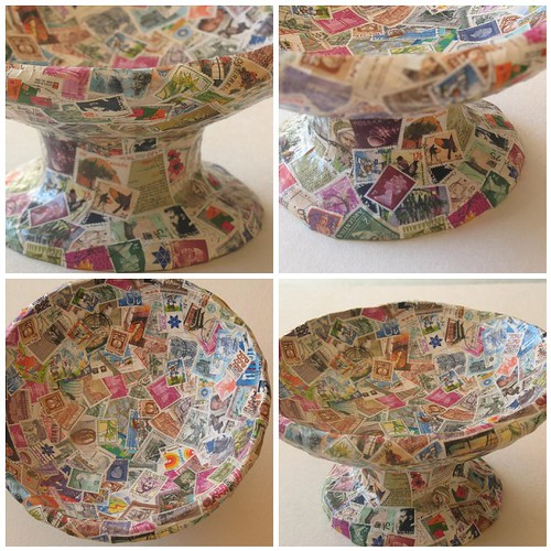 how to make a paper mache world map