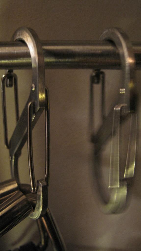 Diy belt and tie rack img 8460 the larger 3 s biner for Ikea belt hanger