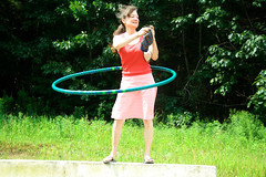 multi tasking: knitting and hoola hooping | by MaryJaneM
