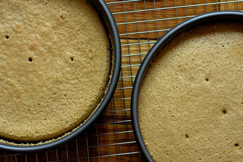 espresso chiffon cakes, cooling | by smitten kitchen