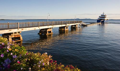 Docked At Bar Harbor Maine 14 164 Motor Yacht Lauren