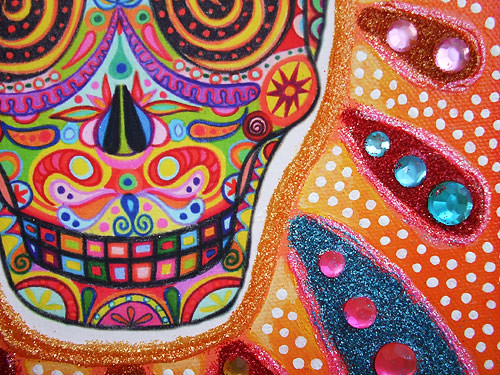 Day Of The Dead Art Close Up