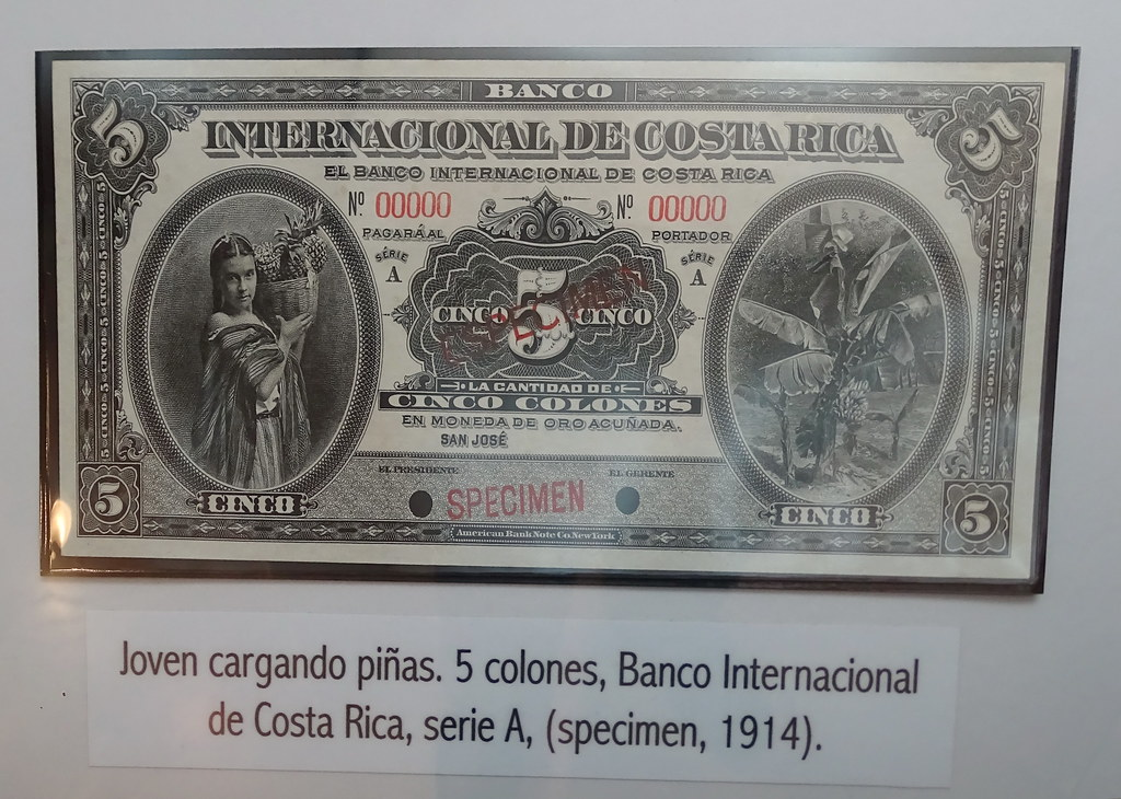 Image result for billete de 5 colones del banco internacional de costa rica, 1914