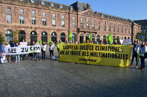Manifestation STOP CETA - Parlement Européen - Strasbourg