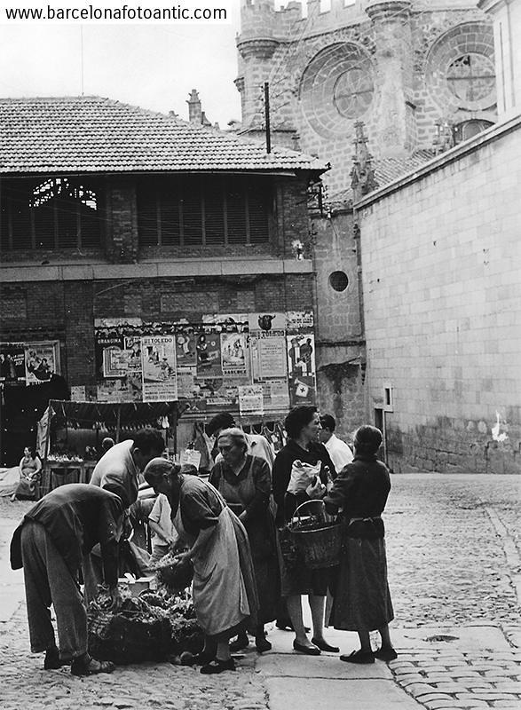 Plaza Mayor en 1956. Fotografía de Joan Miquel Quintilla