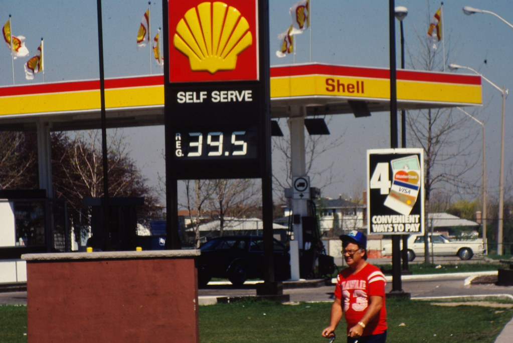 bramalea ontario shell gas station 1980 era a picture