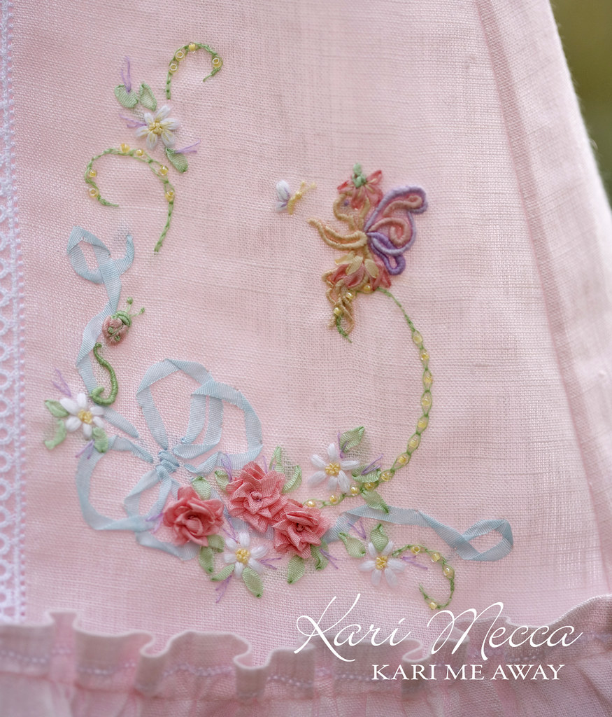 Lauren s fairy dress pattern by kari mecca close up of