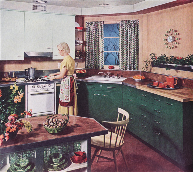 1950 St Charles Kitchen In Green Love The George Nelson