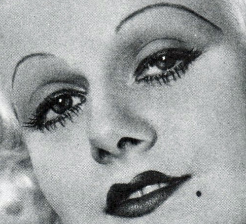 jean harlow makeup i cropped this closeup from the