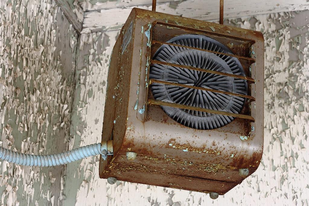 Rusty Old Electromode Electric Warehouse Heater Peeling P