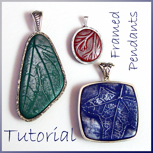 Tutorial polymer clay pendants with leaf imprints and silv flickr tutorial polymer clay pendants with leaf imprints and silver frames by eugena topina aloadofball Image collections