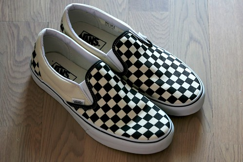 Vans Checkerboard Slip On Shoes