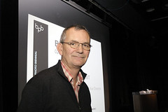Martin Parr prepares to present his curatorial concept for BPB 2010, New Documents. | by Brighton Photo Biennial (bpb)
