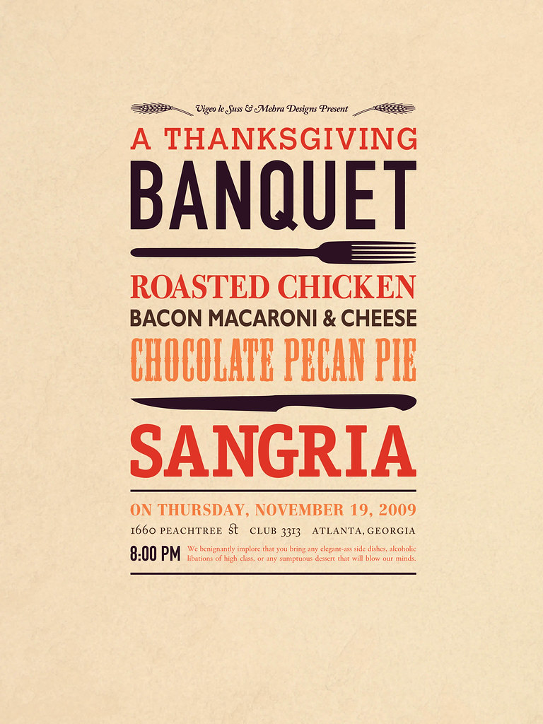 A Thanksgiving Banquet Poster | A poster that I designed for… | Flickr