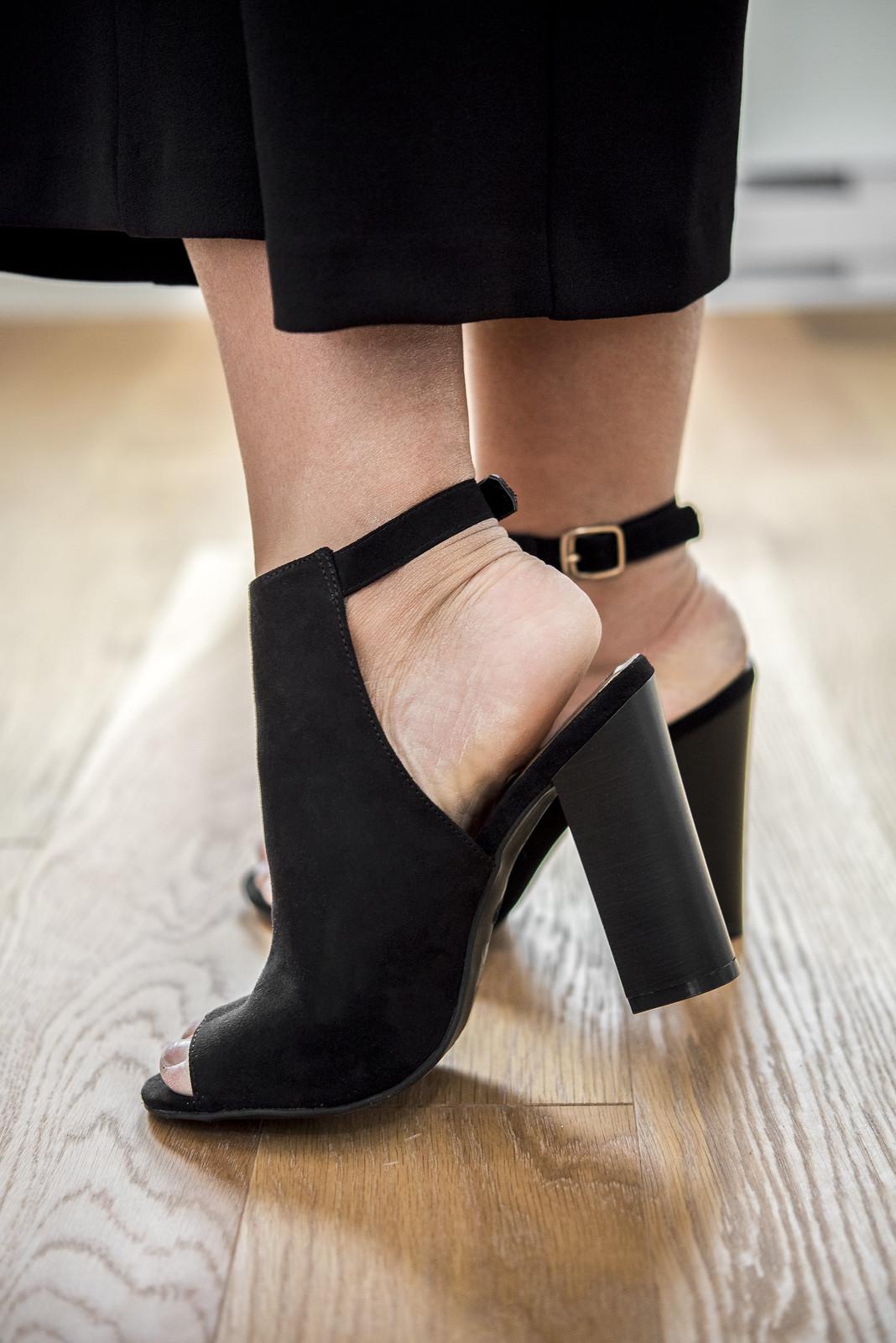 sandale printemps noire