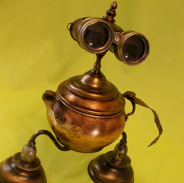 robot sculpture ART Alien Robot Toddler Steampunk J Flickr