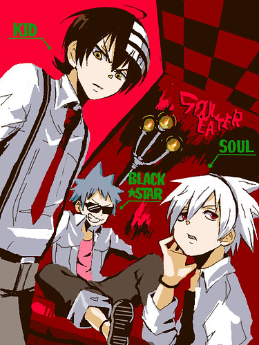 soul eater kid x black star x soul look cool check