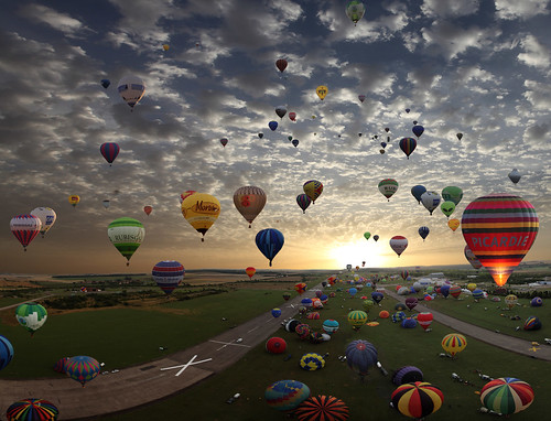 The largest hot-air balloon gathering in the world, Chambley, France. So far today, more then 400.000 views and 7.500 Faves! | by Gaston Batistini
