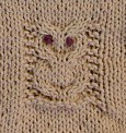 owl binky buddy detail | by kid_knits