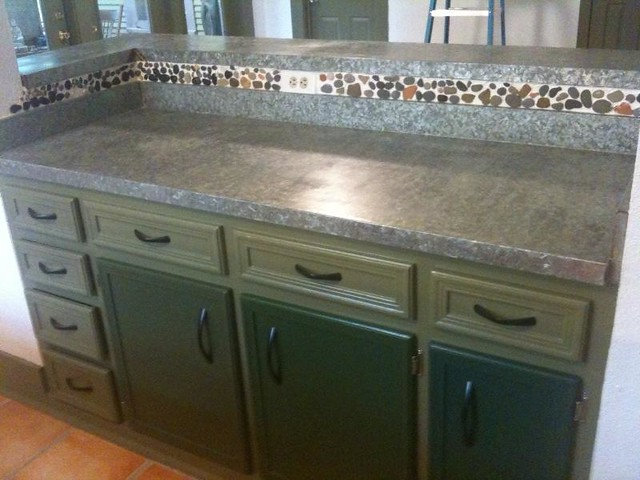 ... Completed The Installation Of Galvanized Steel Countertops Flickr