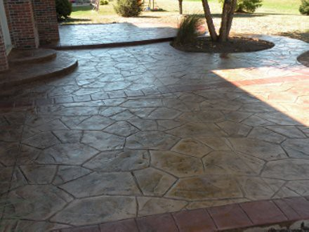 Stamped Concrete Patio Orchard Slate Stamped Concrete