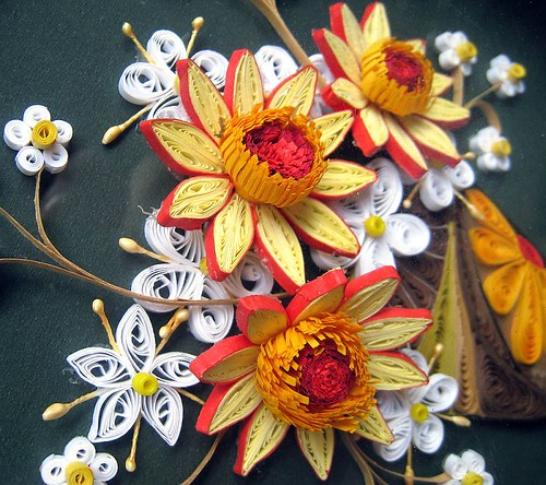 Quilling paper picture Flowers | by CreartiveShop