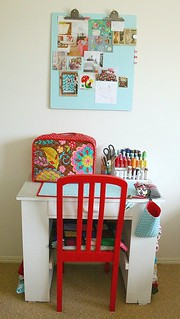 sewing table | by *Karen M Andersen* (Ruby and Violet)
